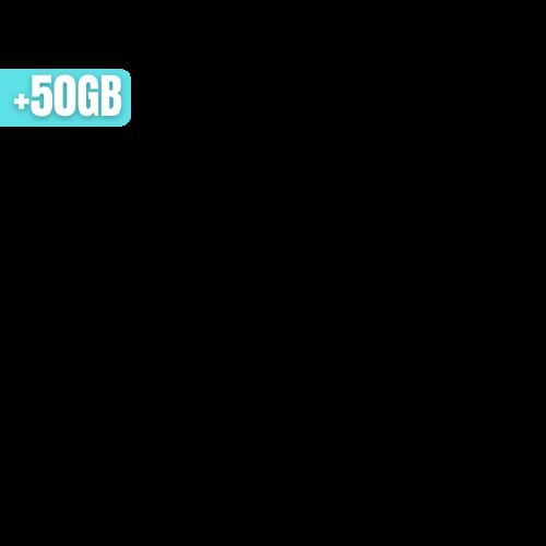 +50GB
